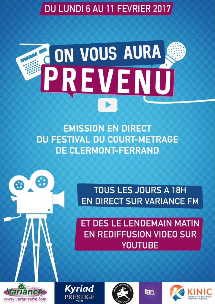 Le festival du Court-métrage sur Variance FM