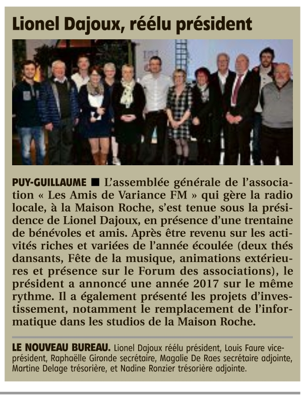 Article de La Montagne du 4 avril 2017
