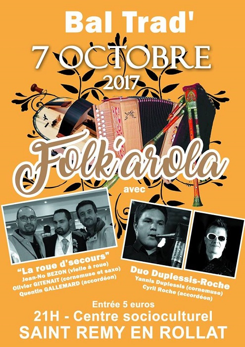 Bal Folk le 07 octobre 2017