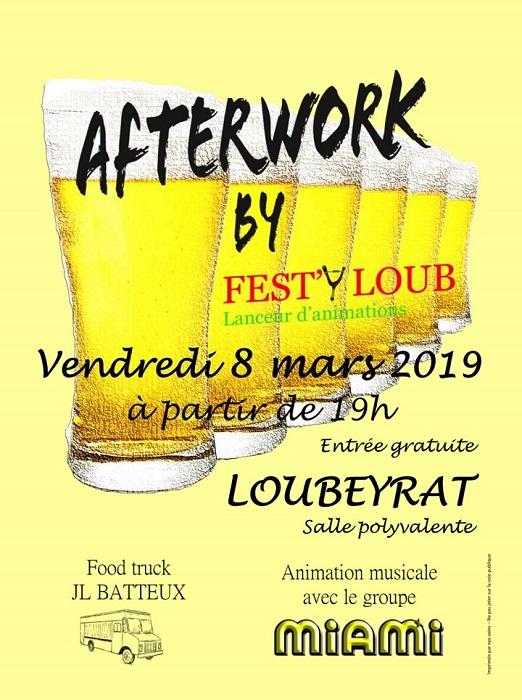Loubeyrat 63 : AfterWork Vendredi 8 Mars 2019