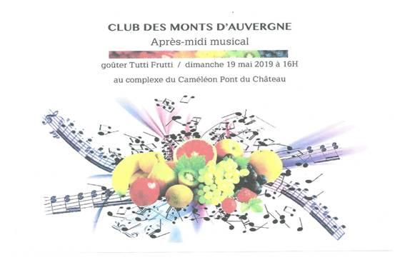Après-midi Musical et Goûter Tutti Frutti